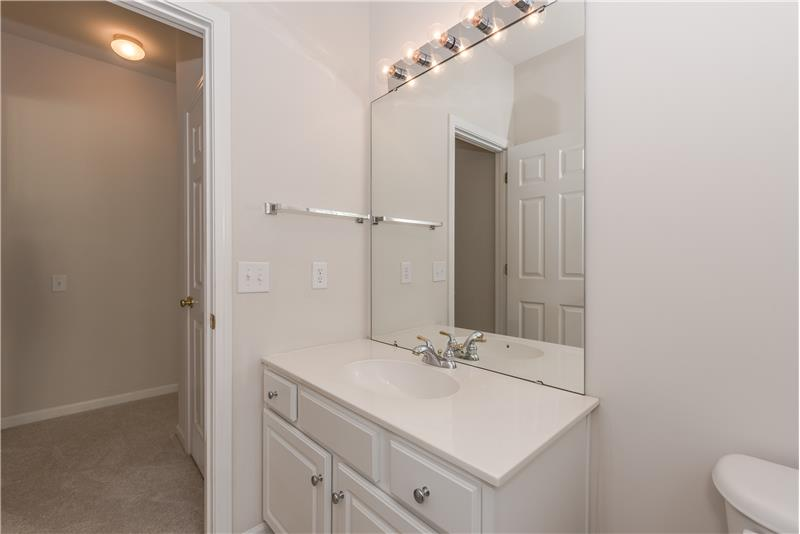 Windowed half-bath on main floor