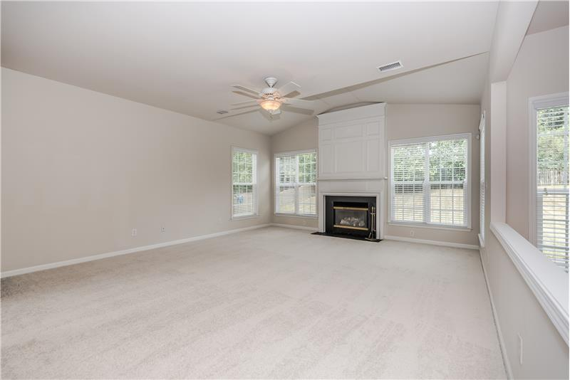 Plenty of space for large screen TV/entertainment center in great room