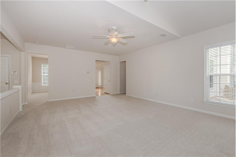 Positioning of great room, living and dining rooms provides great flow for entertaining