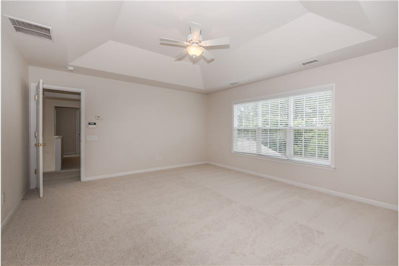 Master bedroom easily accommodates a king-size bed; new carpet, freshly painted