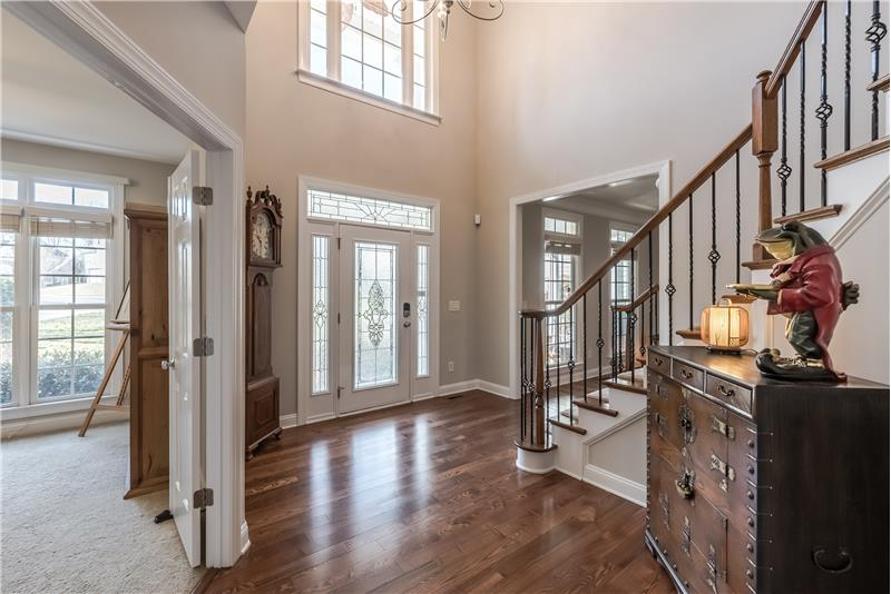 2-story grand foyer provides a stunning introduction to the home.