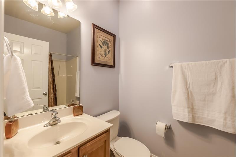 Second floor full bathroom.
