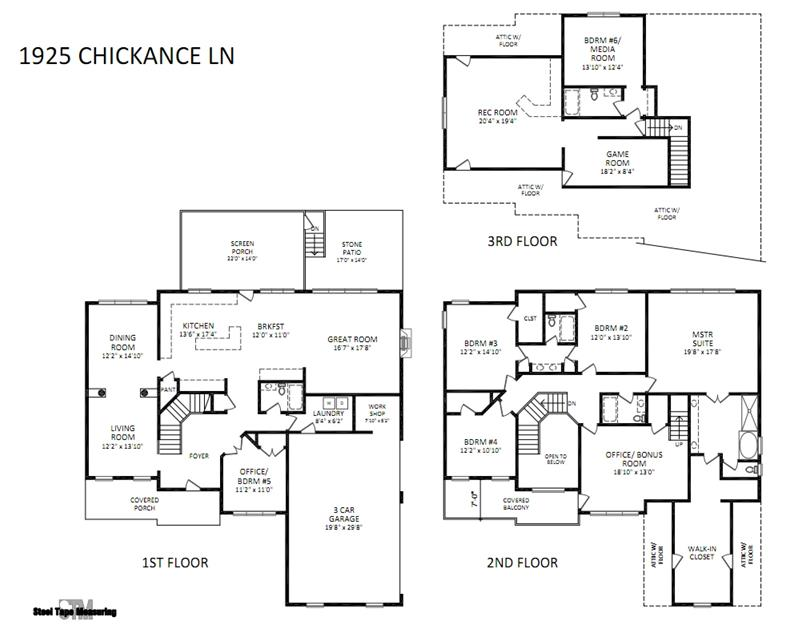 Wide open floor plan features rooms with spacious dimensions that can serve a multitude of purposes.