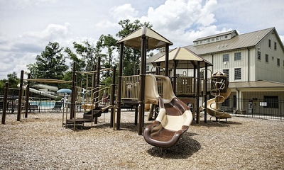 Community playground is popular with the