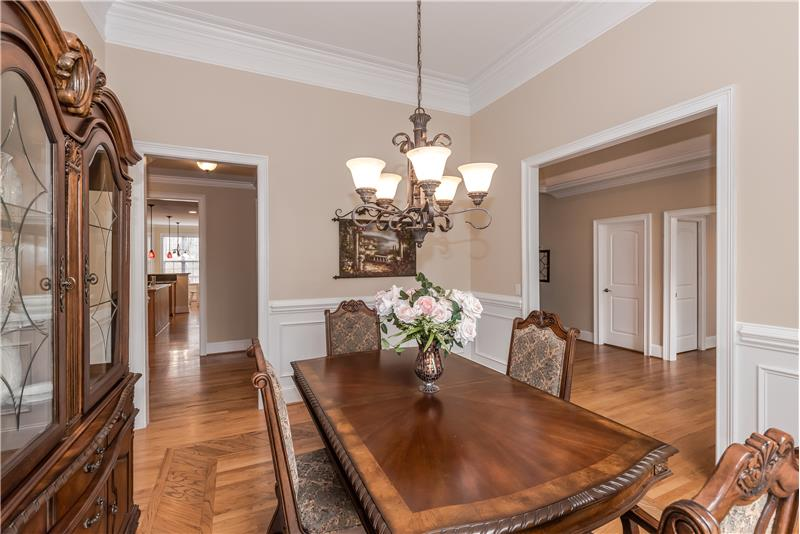 Dining room perfect for holiday meals and more formal entertaining. Plenty of room for large table, china cabinet and sideboard.