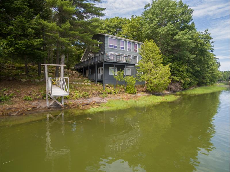 ... and offers 390 feet of frontage on the New Meadows River!