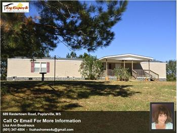 689 Restertown Road, Poplarville, MS