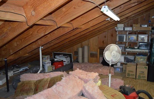 Storage area in attic