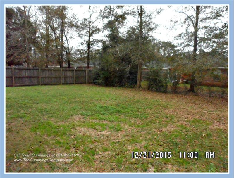 Fenced Backyard at 9661 Misty Leaf Dr, Mobile, AL 36695