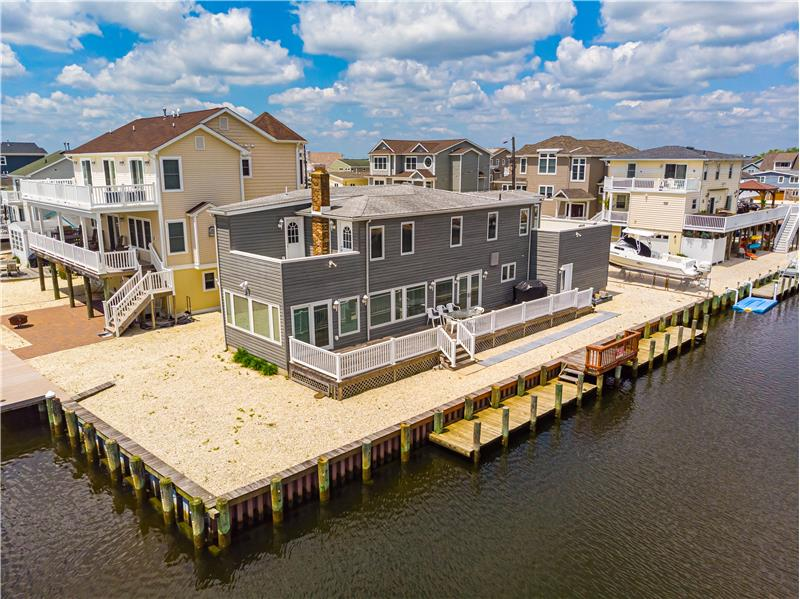 Stunning Contemporary situated on 135 feet of Water Frontage in Beach Haven West (Stafford Township), NJ 08050