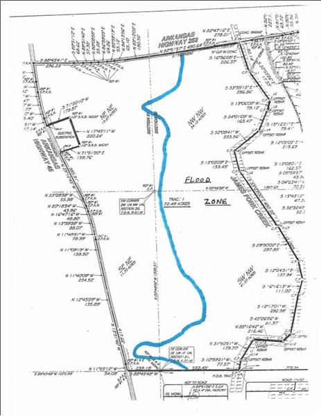 Flood zone map to right of blue line is flood zone